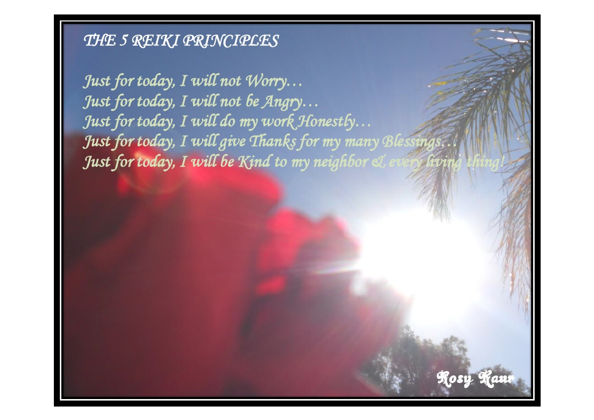 The 5 Reiki Principles
